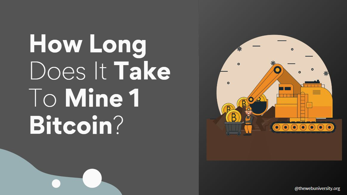 How Long Does It Take to Mine 1 Bitcoin in 2021